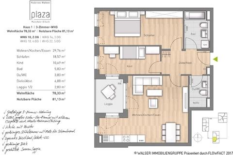 Grundriss Whg-10_14_18-22 Gut geschnittene, schöne 3-Zimmer-Wohnung im 5. und somit im obersten Stockwerk