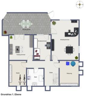 WG50002 1. Ebene Stilvolles Anwesen mit unverbaubarem Fernblick...