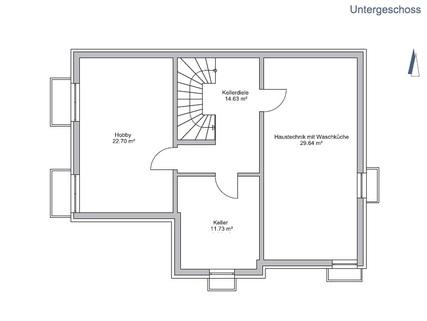 Das Untergeschoss GEO WOHNBAU: Dieses freistehende Einfamilienhaus besticht durch viele Vorzüge …