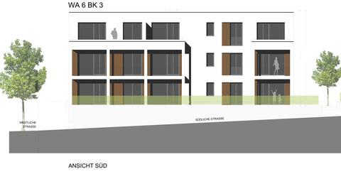 Ansicht Süd Barrierefreie 3 Zimmer Neubau - Gartenwohnung