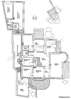 Grundriss Erdgeschoss Wohntraum historisches Schlössel am Ammersee, kernsaniert, auf 5.000 qm uneinsehbarem Grund