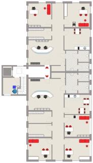 Beispiel-Grundriss Praxis (noch frei planbar) Neue Praxis-/Büroräume mit großzügigen ca. 316 m² Nutzfläche zu vermieten!