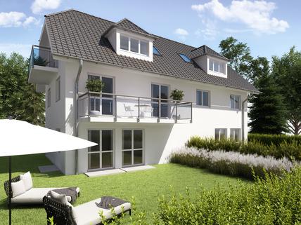 Visualisierung Gehobene, familiengerechte Neubau-Doppelhaushälfte auf einem realgeteilten Grundstück in München-Fasangarten