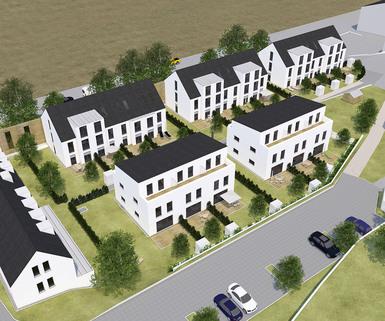 Südansicht Geräumige, attraktive Neubauhäuser im Labertal