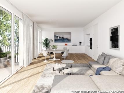 München Pasing PaseoCarre_Punkthaus_Wohnen Zentral und trotzdem ruhig: 3 Zimmer-Wohnung in Innenhoflage
