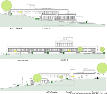 Ansichten Teil 1 4,5 Zi-Whg-Barierefrei mit KFW 55 am Seidlpark