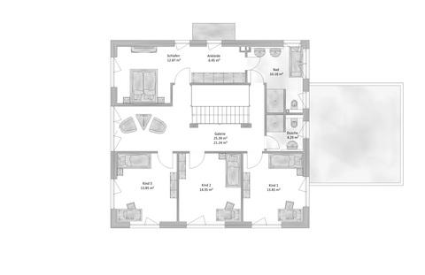 Das Obergeschoss Verkauft: Puristische Villa im BAUHAUS-Stil in OTTOBRUNN - aktuelles Angebot