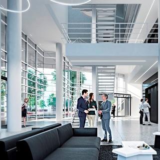 Foyer2 Dynamisch im Münchner Osten ... Bürocampus hell, modern und neu revitalisiert