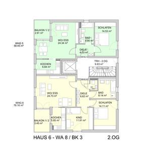 Grundriss DG Barrierefreie 2 Zimmer Neubau - Wohnung mit Balkon