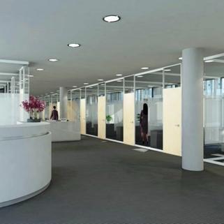 Innen1 Formvollendete Büros in elegantem Neubau