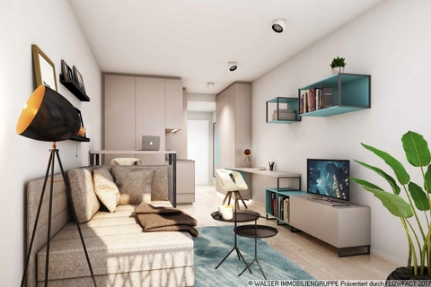 Beispielapartment Innovatives und lukratives 2-Zimmer-Serviced-Apartment mit Balkon in begehrter Citylage