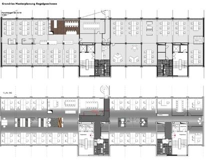 Grundriss Regelgeschoss Stylische Büros ... Direkt an der U-Bahn