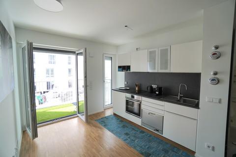 elegante Küche **Leopold-Carré am Schwabing Tor**Großzügig geschnittenes Appartement auf höchstem Niveau*Möbliert**Frei ab 01.05.2019**