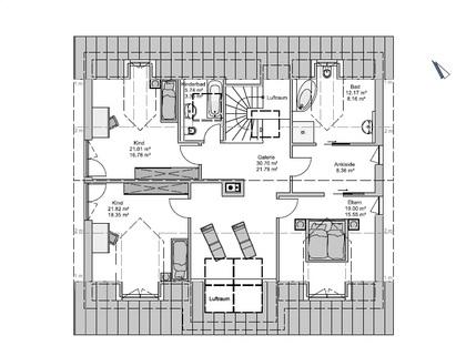 Das Obergeschoss GEO-Wohnbau: TRAUM-Haus auf TRAUM-Grundstück in Waldtrudering