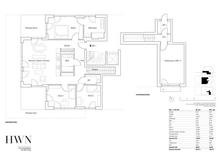 Erdgeschosswohnung 01 + Hobbyraum Erstbezug: Gartenwohnung mit 4 Zimmern und Hobbyraum