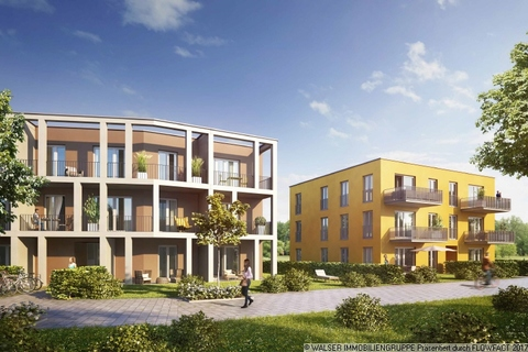 Außenansicht Attraktive 3-Zimmerwohnung mit Blick ins Grüne