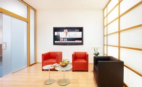 Lounge Repräsentatives Bürogebäude in der Leopoldstraße, Büroräume von 14 m² bis 10800 m²
