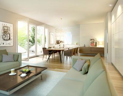 Illustration - Änderungen vorbehalten. Erdgeschosswohnung mit eigenem Garten - Erstbezug!
